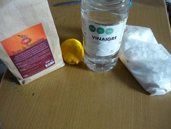 Vinaigre citron bicarbonate javel pollution consommer - Deboucher evier bicarbonate soude vinaigre blanc ...