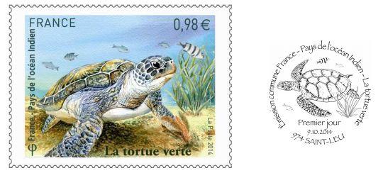 timbre-tortue-verte