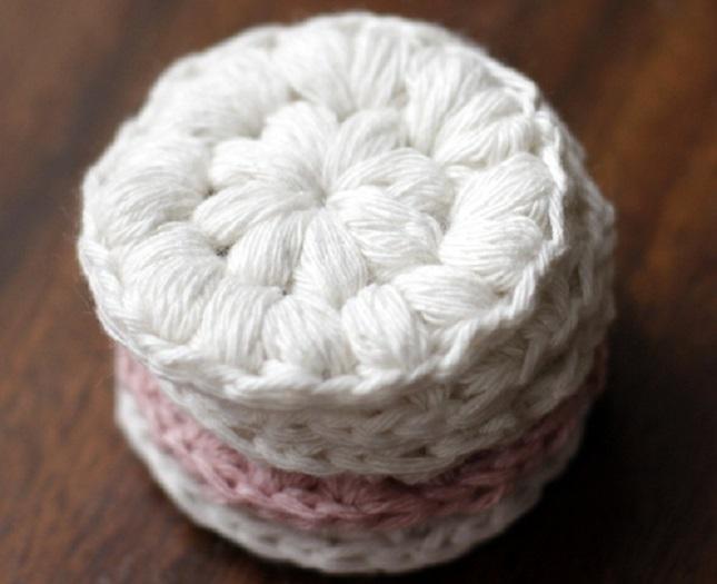 disque réutilisable coton crochet