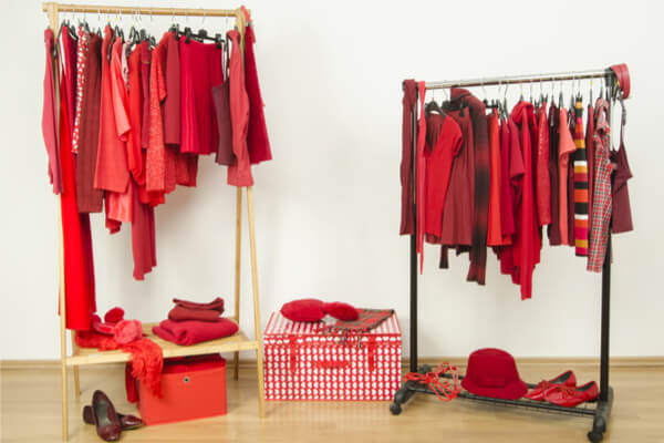 colorer linge rouge